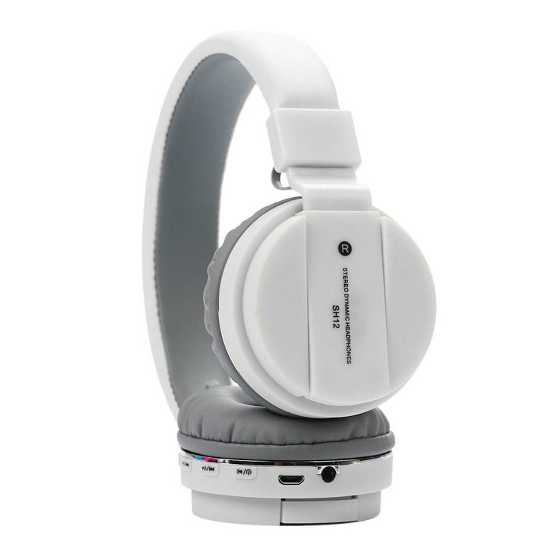 TSV SH12 Wireless/Bluetooth Headphone with FM SD Card Slot Compatible with All Smartphone By TSV