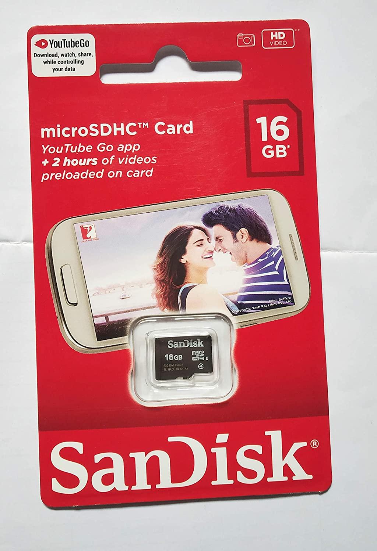 SanDisk 16   GB microSD Class 4 Memory Card  SDSQBNN 016G GO3IN