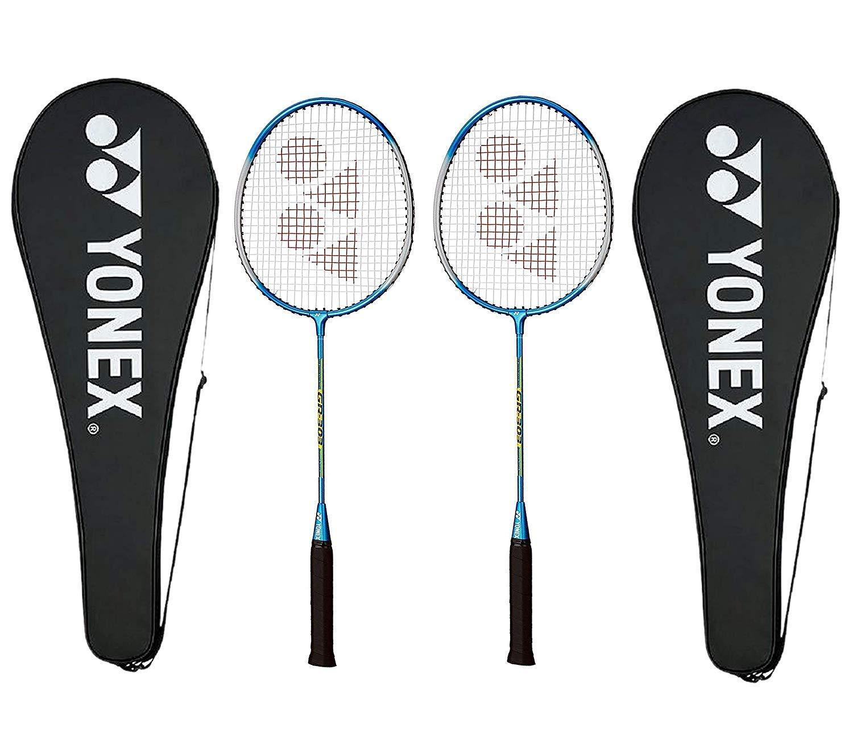 Yonex GR 303 Aluminium Blend Badminton Racquet with Full Cover  Blue , Pack of 2PC