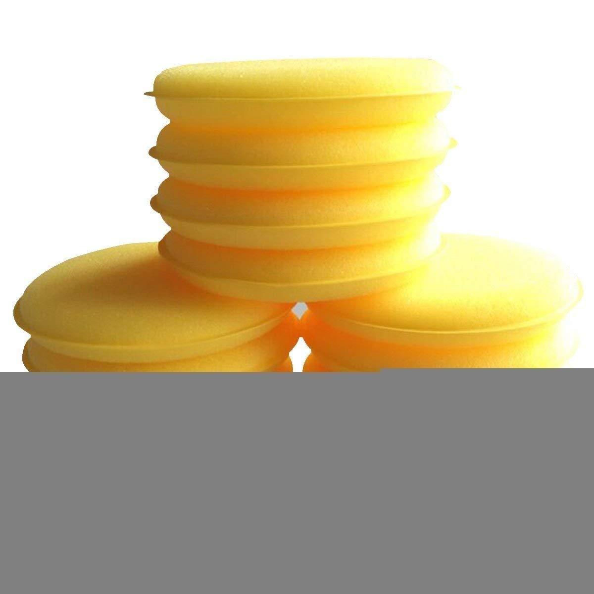 2Pcs Waxing Polish Wax Foam Sponge Applicator Pads Fit for Clean Car Vehicle Auto Glass 3.75 Inches Across,100Mm6Mm