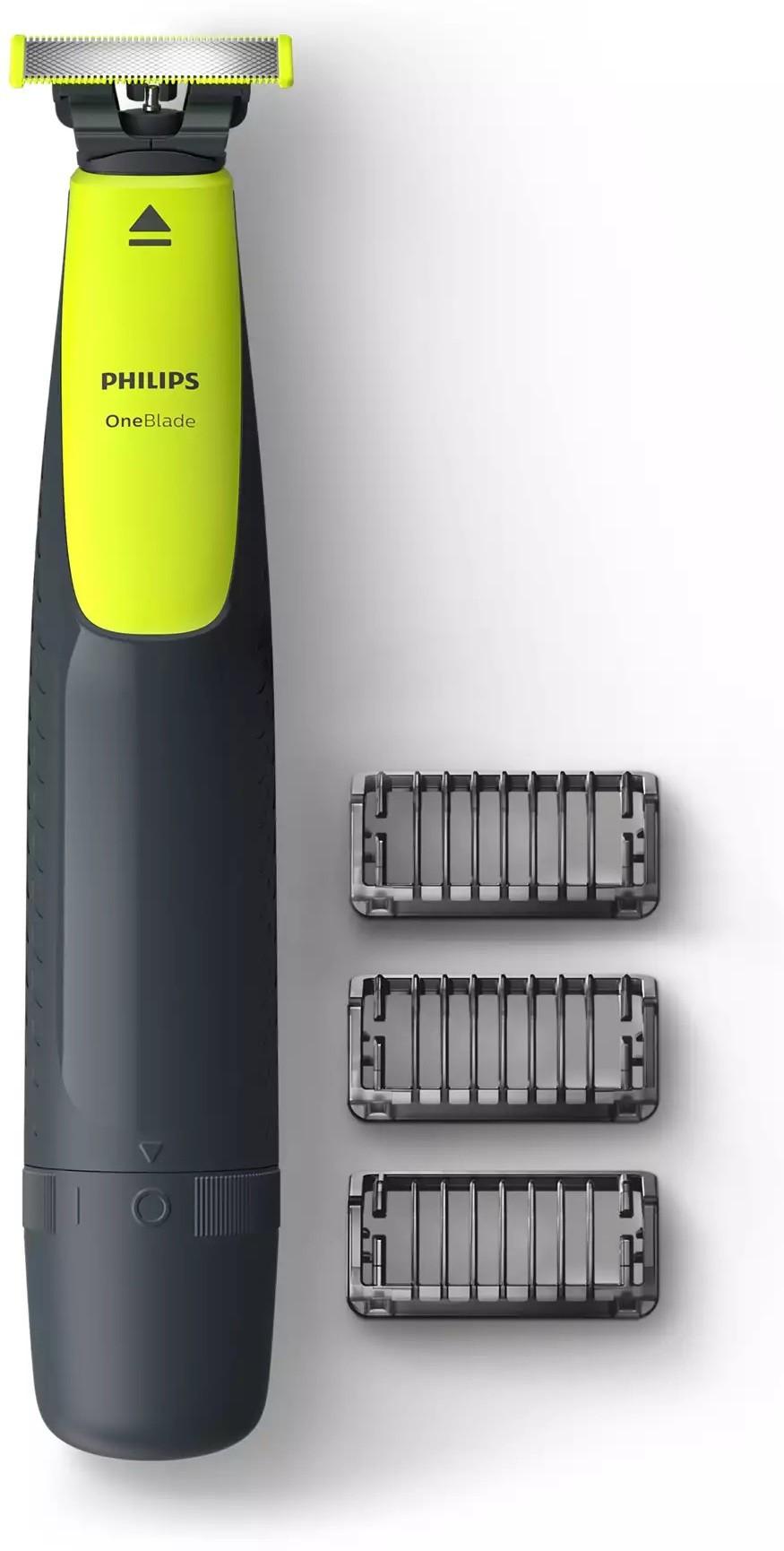 PHILIPS QP2512/10 OneBlade Trimmer for Men  Green
