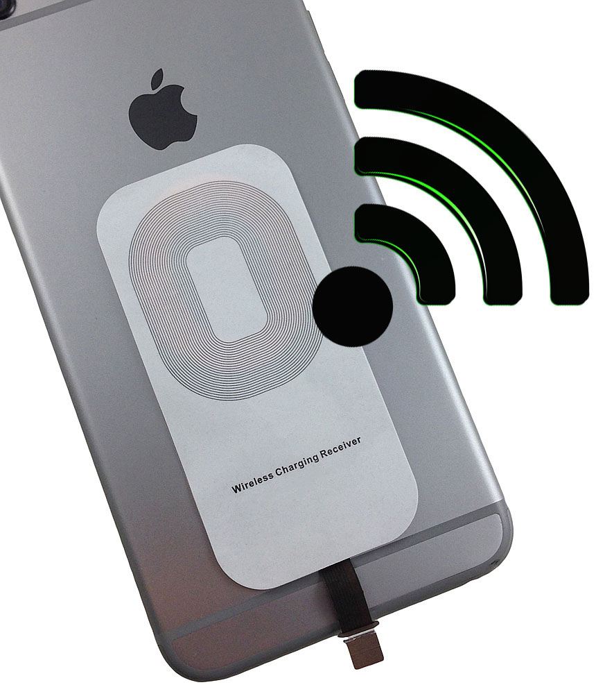QI Wireless Charging Receiver Pad iphone Charger Dock Module for iphone IOS Mobile Phones