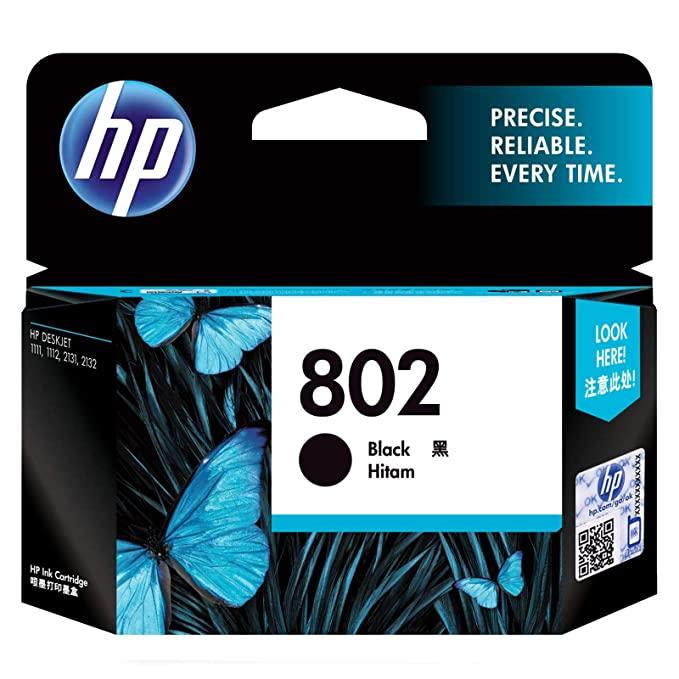 HP 802 Black Original Ink Cartridge