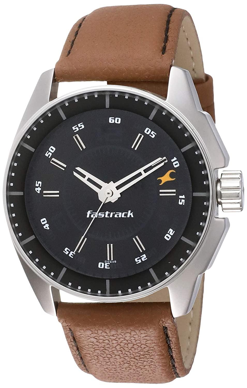 Fastrack NM3089SL05 Black Analog Black Dial Men's Watch
