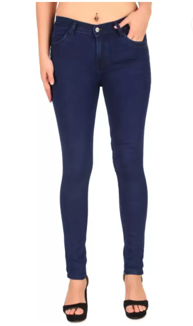 Slim Women Dark Blue Jeans