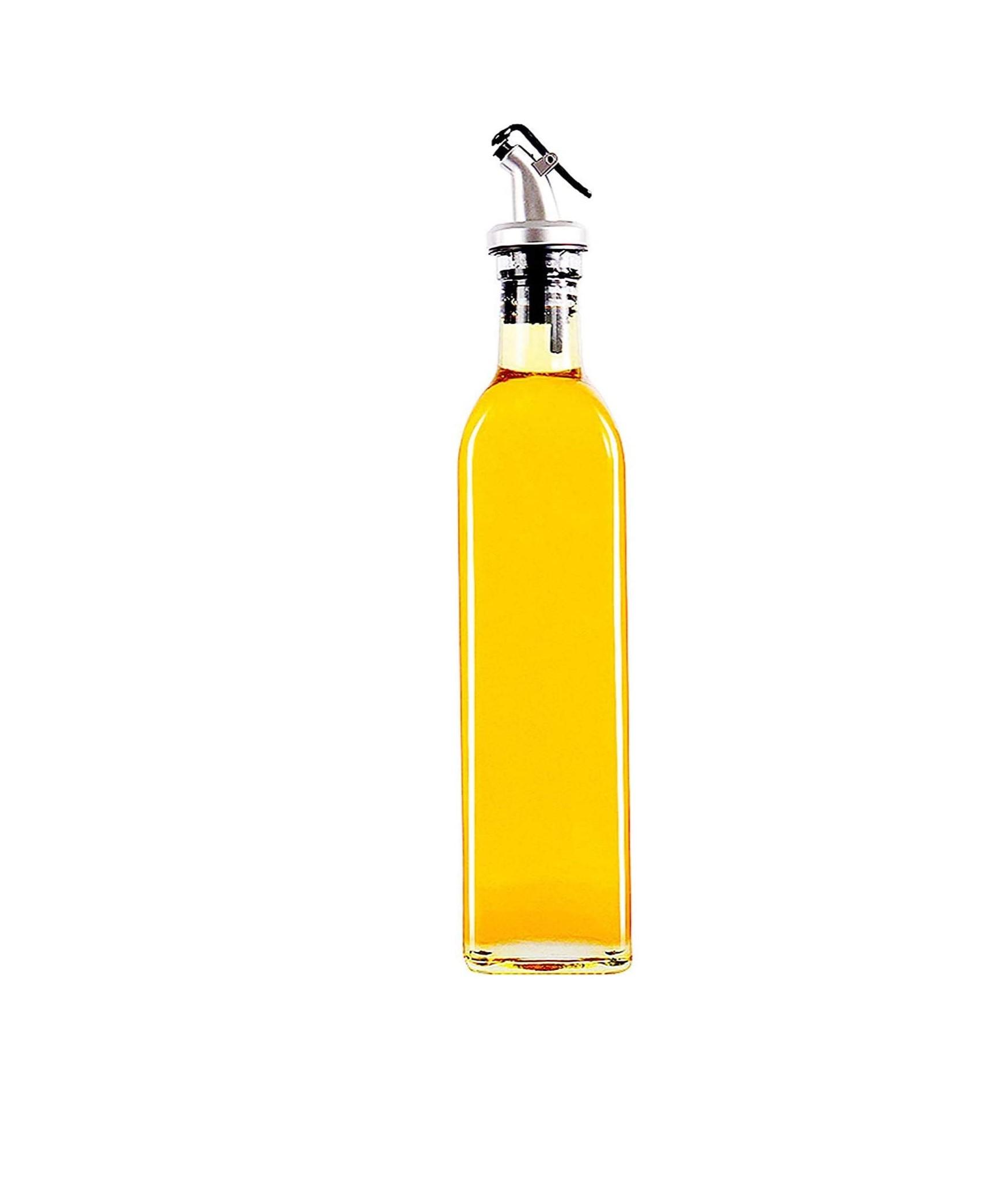 UPKARANWALE Oil glass vinegar Dispenser Bottle Leak proof Oil Bottle Set   Set of 1