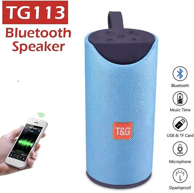 TG113 Super Bass Wireless Bluetooth Speaker Best Sound Playing Mobile Tablet AUX Memory Card   random color