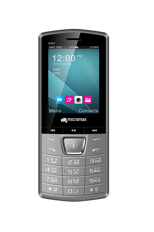 Micromax X741 Dual Sim Grey Feature Phone