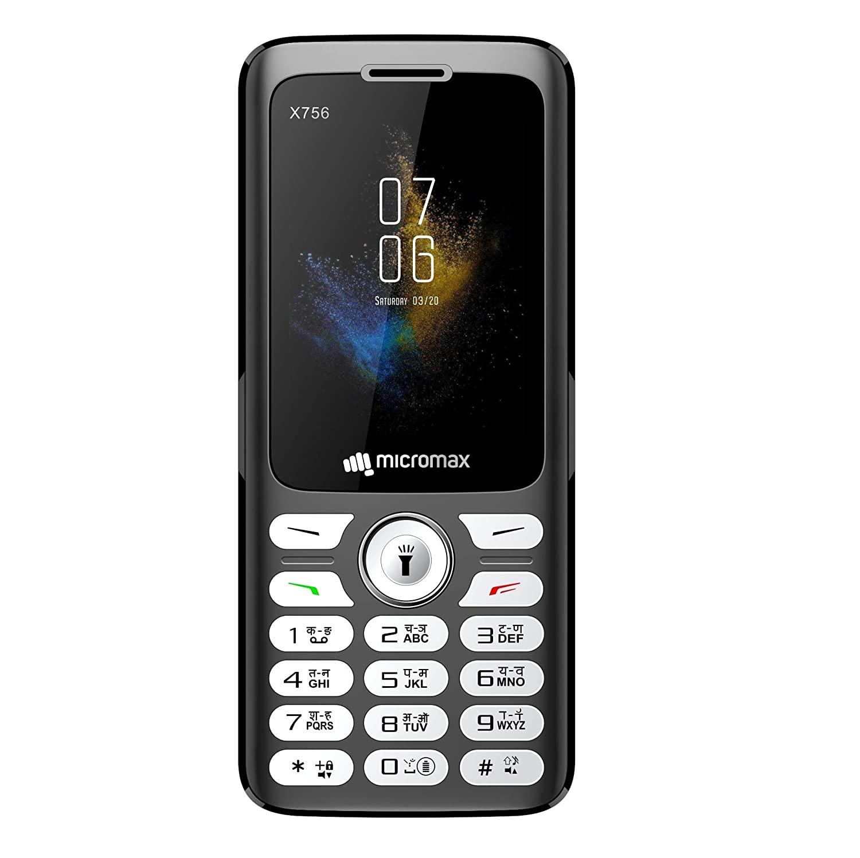 Micromax X756 Dual Sim 2.4 Inch Feature Phone  Black