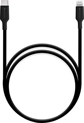 Zebronics ZEB CL1000M Apple Certified MFI Type C to Lightning Cable Compatible with Type C PD Adapter   1 Meter  Black