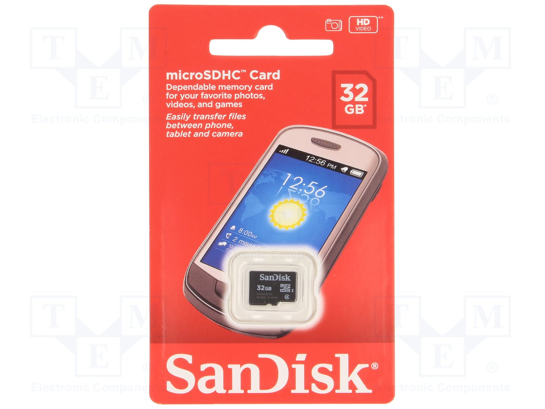 SanDisk 32 GB Class 4 microSDHC Flash Memory Card  SDSDQM 032G B35