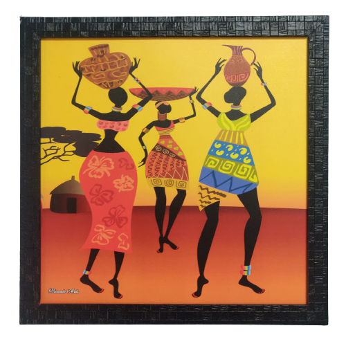 Metalcrafts Digital Canvas Painting, 3 women, wall decor, size 16 inch, 40 cm