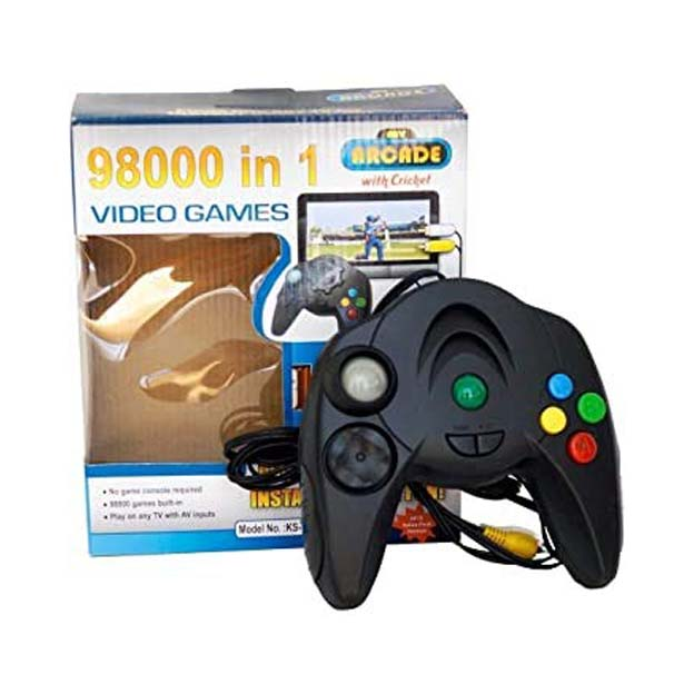 98000 in 1 Built in Video Games   Plugs Into Any TV for Instant Gaming, Requires No Expensive Game Console