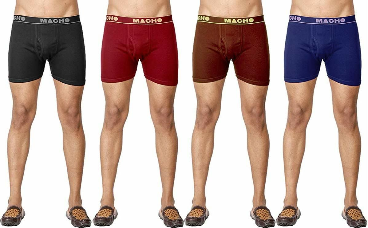 Cotton Solid Trunks For Men  Pack Of 4