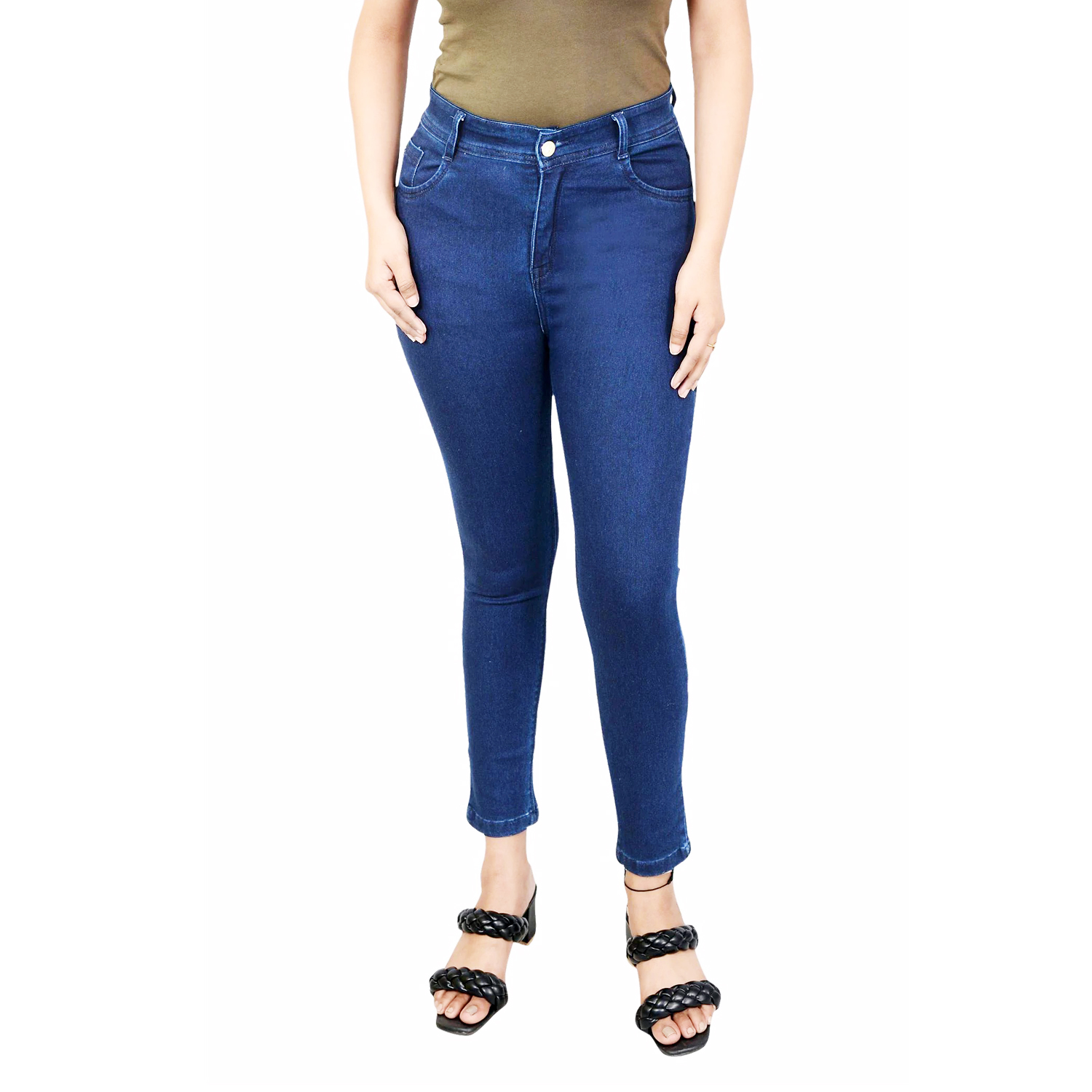 Women Blue Super Skinny Fit Stretchable Jeans