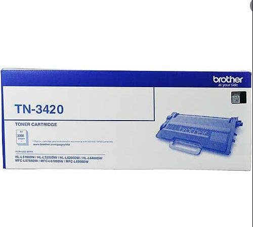 Brother TN 3420 Toner Cartridge For Use HL L5100DN, Brother HL L5200DW, Brother HL L6200DW, Brother HL L6400DW, Brother