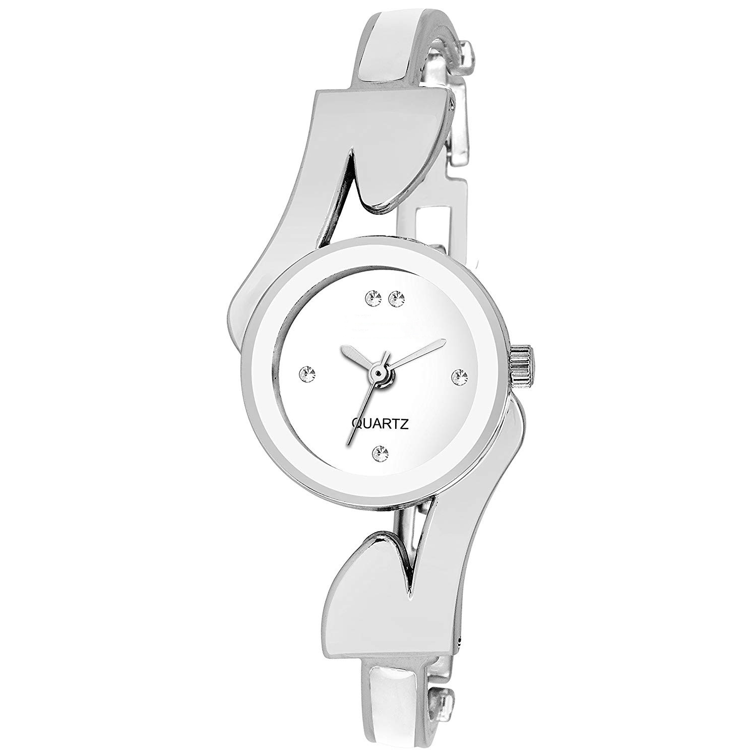 VR Z White Dial Silver White Analog Watch For Girls