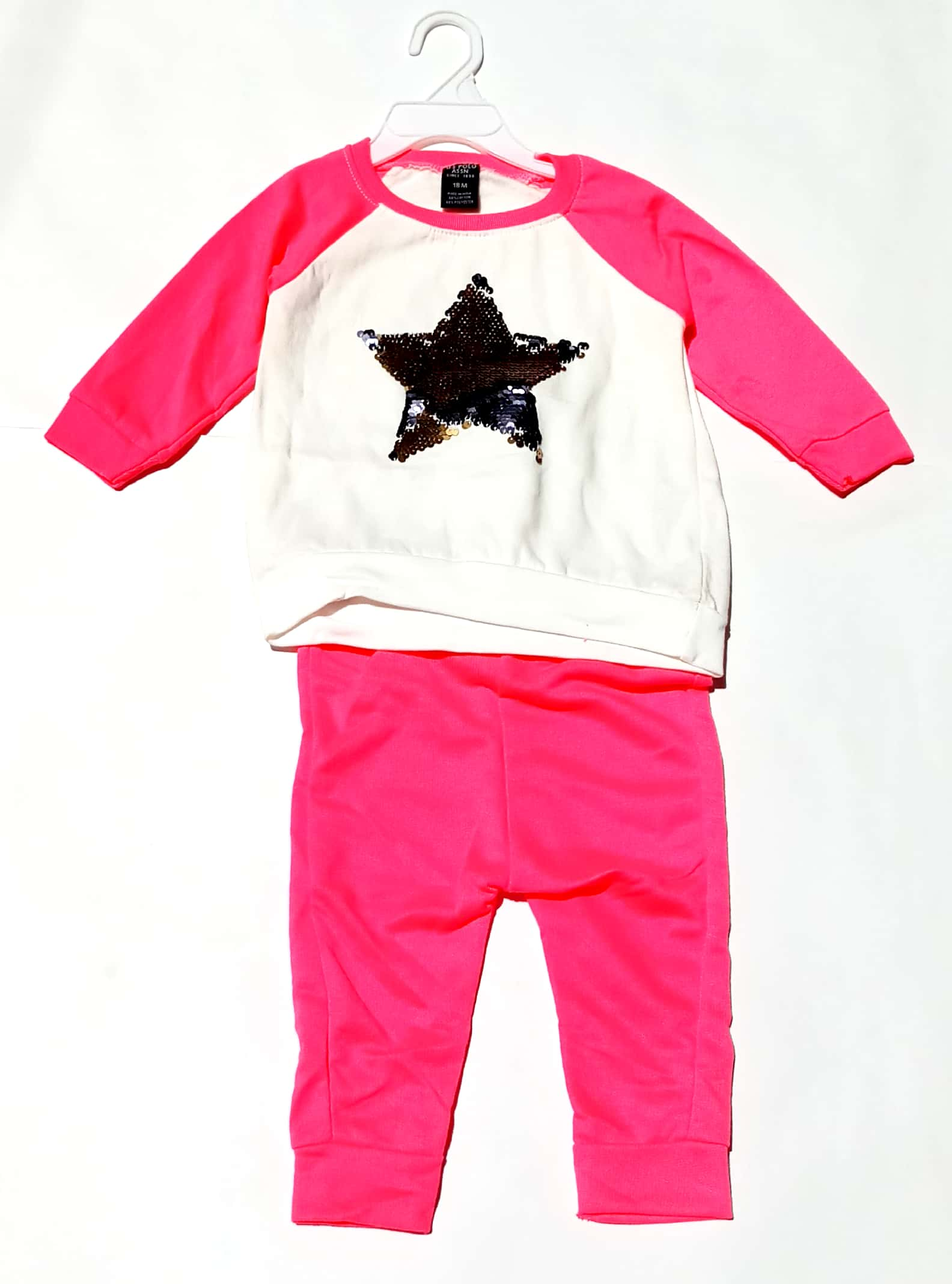 Baby Girls Polo Warm Cotton Full Sleeves Top Legging Set for 9 12 Months