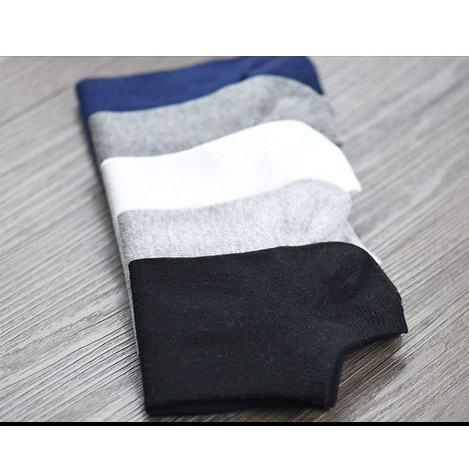 MARKDEYAN Premium Cotton Ankle Socks for Men and Women   Free Size, Solid, Pack of 5  Multicoloured