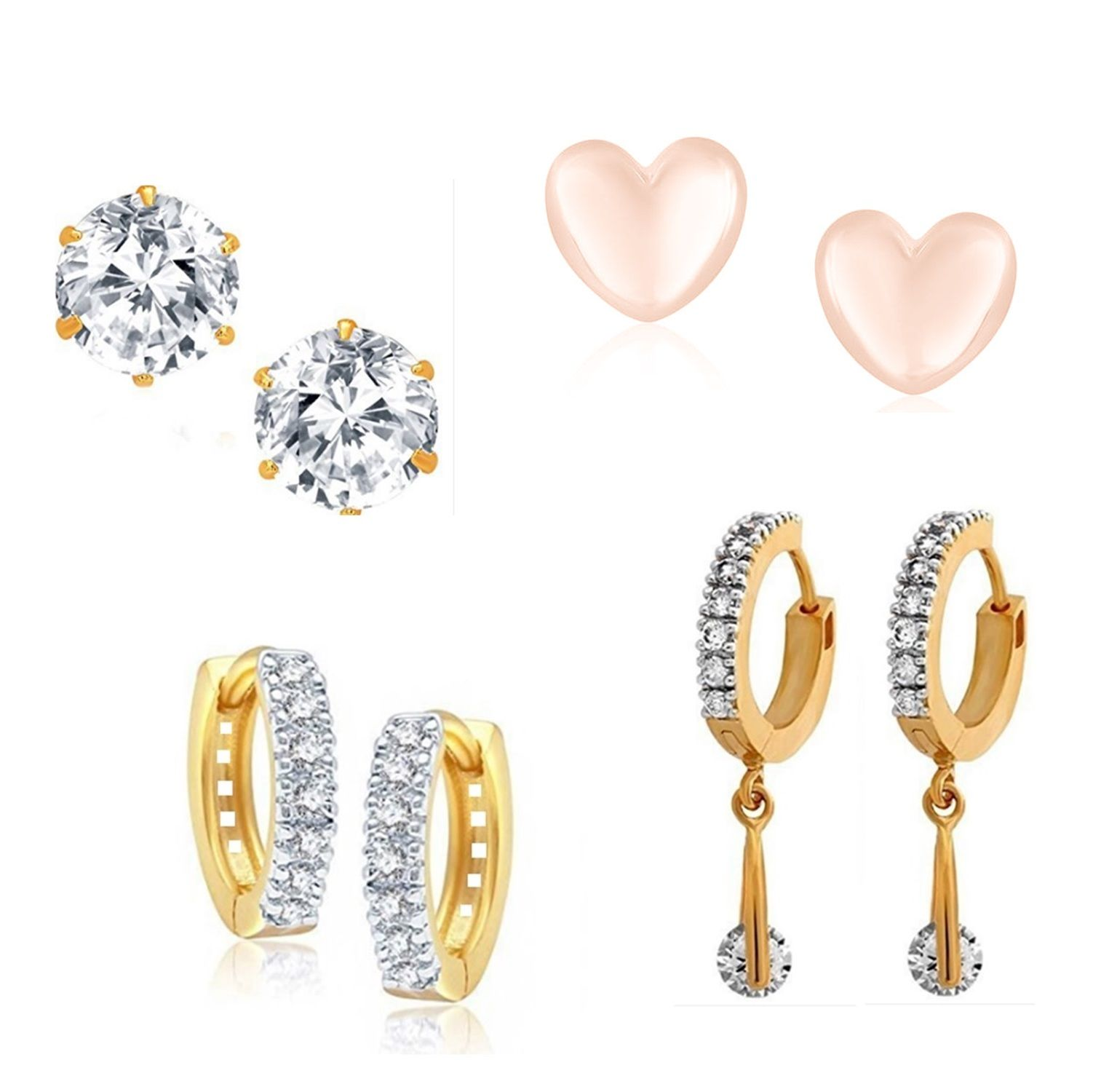 GoldNera Women Stud Earrings Combo With Traditional Bali