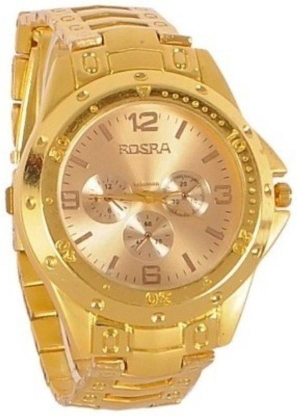 Rosra Men Gold Analog Watch