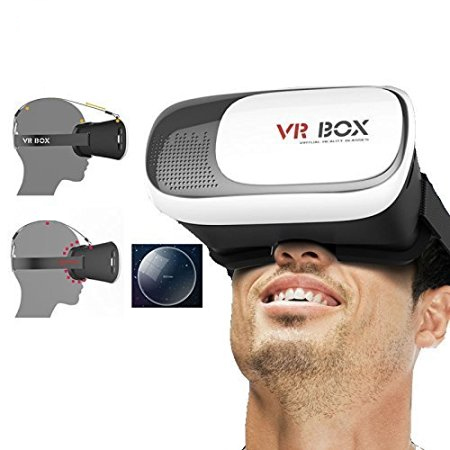 GTC VR BOX 2.0 Virtual Reality Glasses, 2016 Hottest 3D VR Headsets for 4.76 Inch Screen All Smart Phones