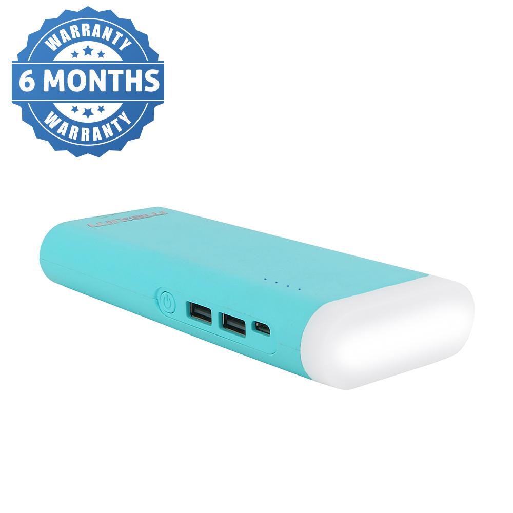 Maxim 2 USB Port 10000 Mah Top Light Power Bank  Blue  Suitable For All Smart Phones