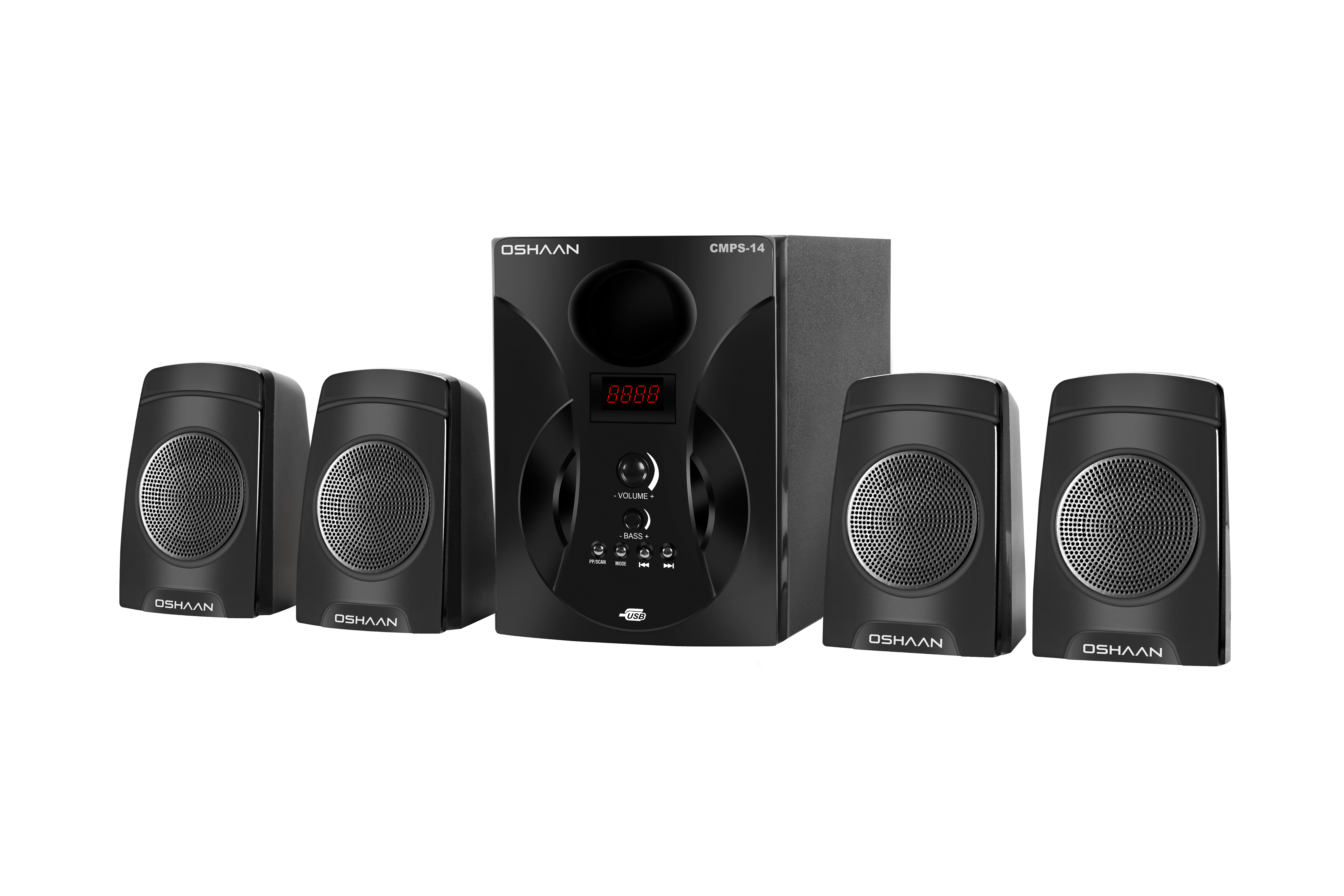 Oshaan S14 4.1 Multimedia Home Theater Speaker with Bluetooth