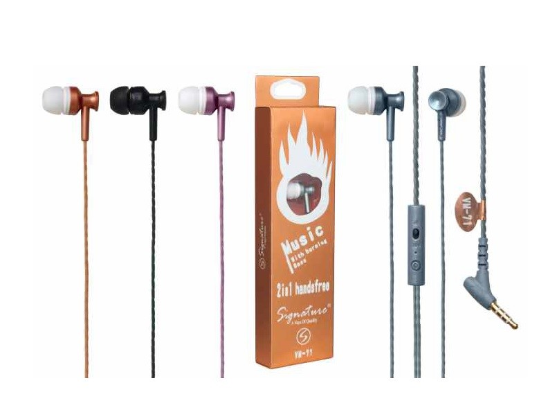 Signature VM 71 In Ear wired Headphone Headset with Mic
