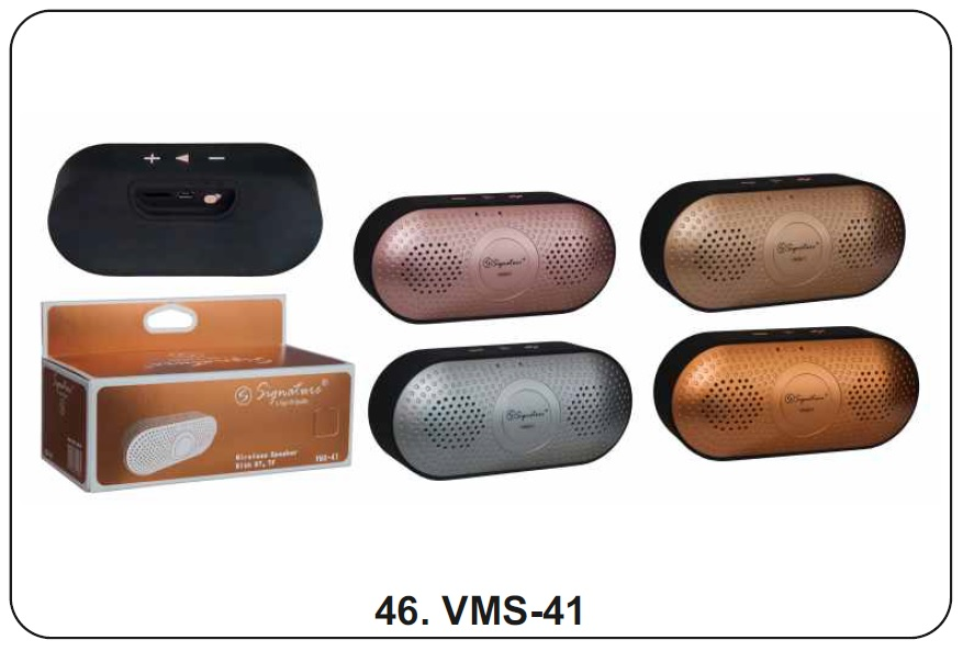 Signature VMS 41 Wireless Bluetooth Speaker  Assorted Colors
