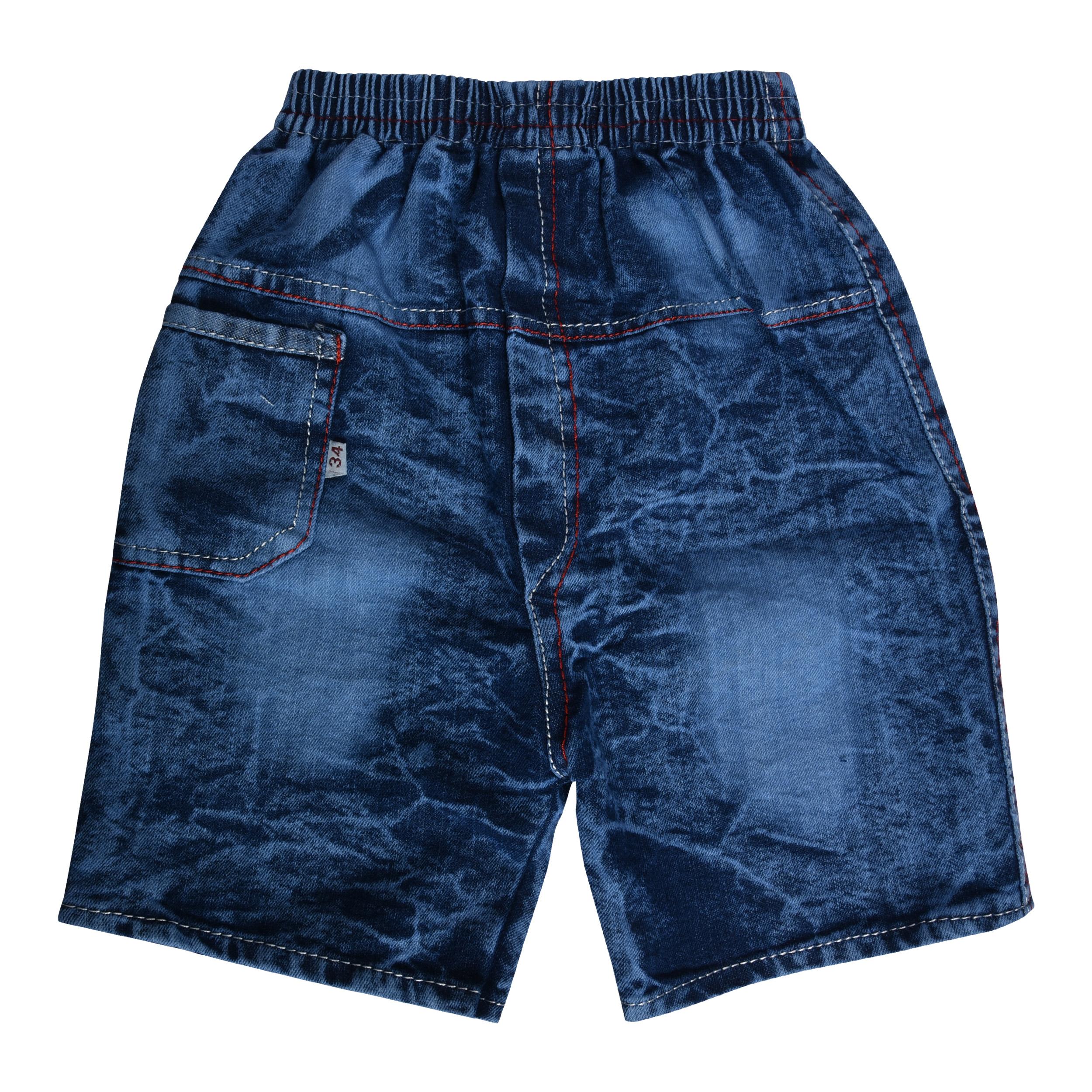 SHAURYA Short For Boys Cotton Linen Blend, Cotton Nylon Blend, Cotton Linen Blend  Blue, Pack of 2