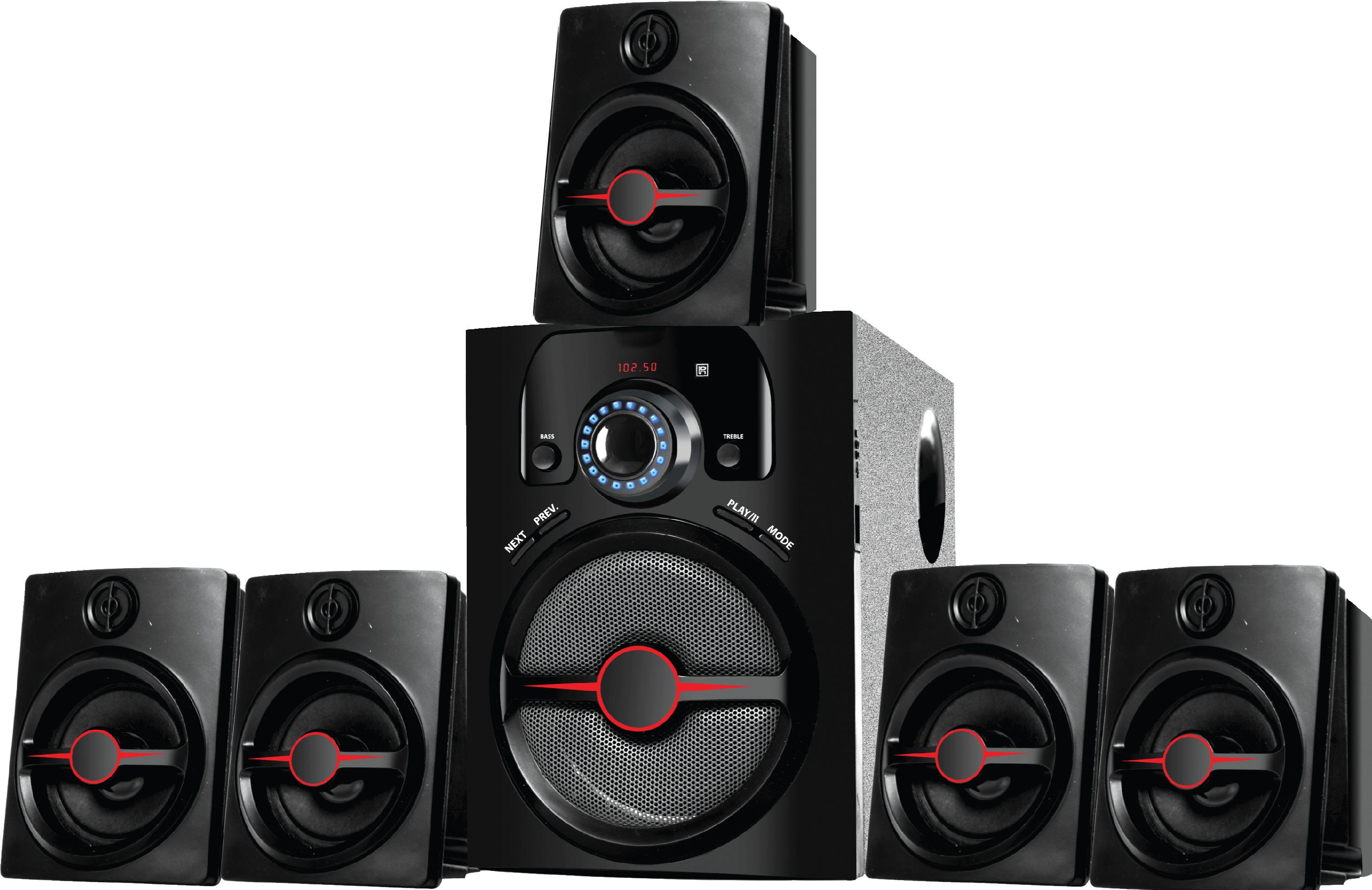 Ikall IK 444 BT Bluetooth Home Audio/Speaker System  Black, 5.1 Channels