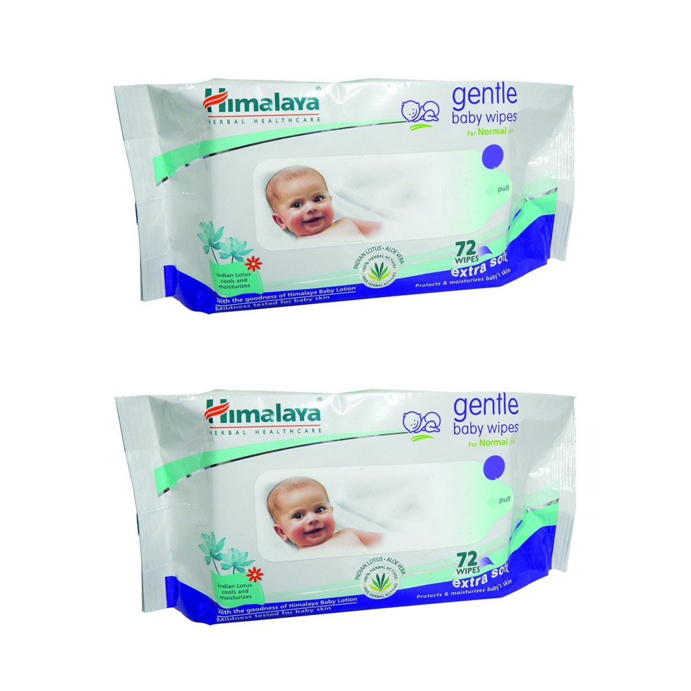 Himalaya Gentle Baby Wipes 72  Pack of 2