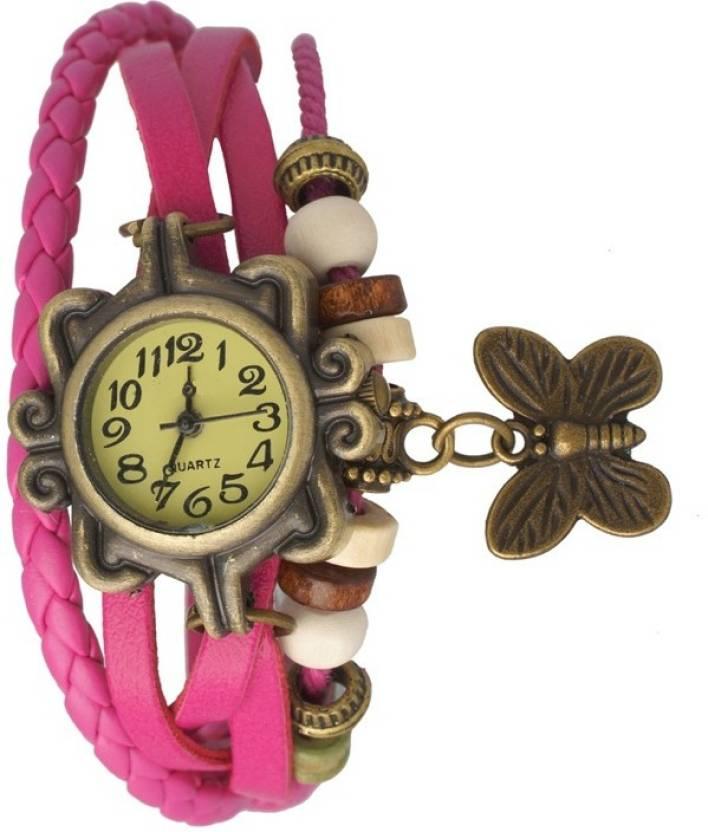 Pink Dori Vinteg Analog Watch For Girl