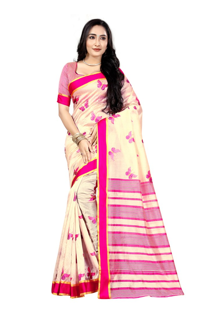 Bhuwal Fashion Printed Self Design Pochampally Art Silk Saree 5082BFF