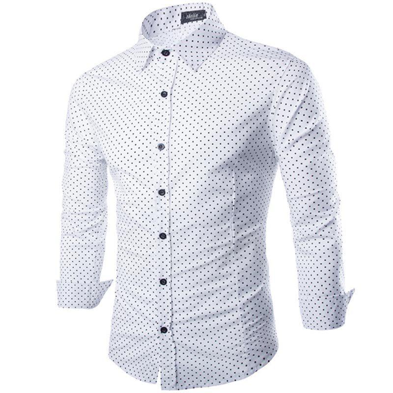 Royal Fashion Dotted White Shirt For Men