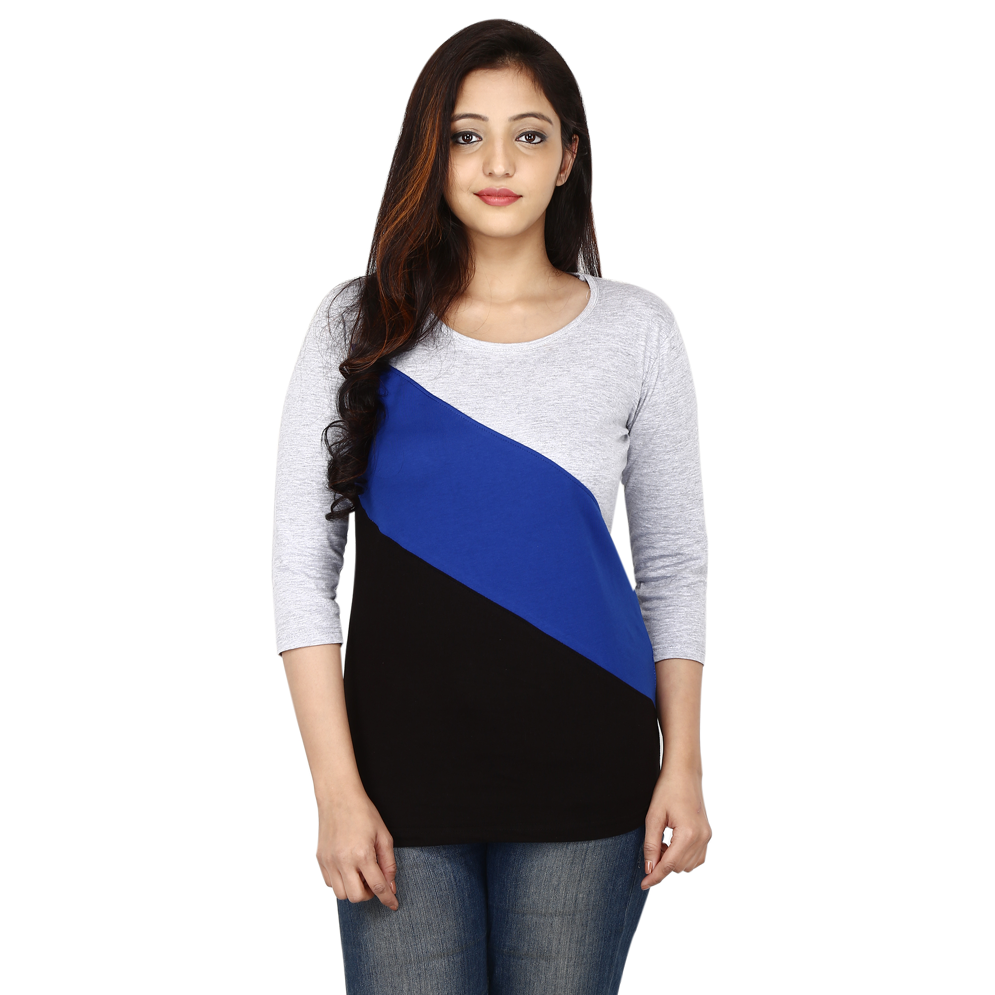 Romile Solid Women Round Neck Multicolor T Shirt