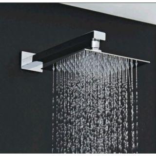 HD Interio Easy Rain Ultra Thin 6x6 Shower Head With 12 Inch Arm