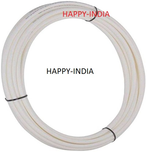 10 mtrs Food Grade Plastic Flexible Pipe/Tube 1/4 For RO/UV Water Purifiers