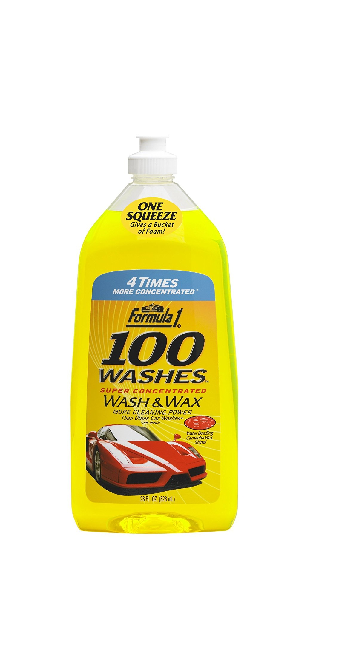 formula1 100 Washes Wash and Wax 828ml  New