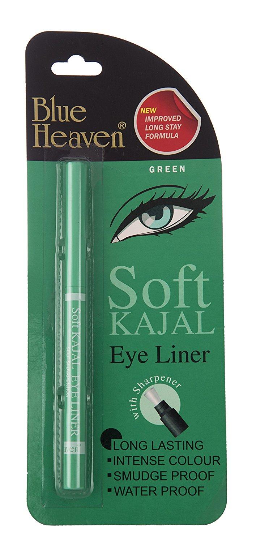 Blue Heaven Soft Kajal Eyeliner, Green, 0.31g