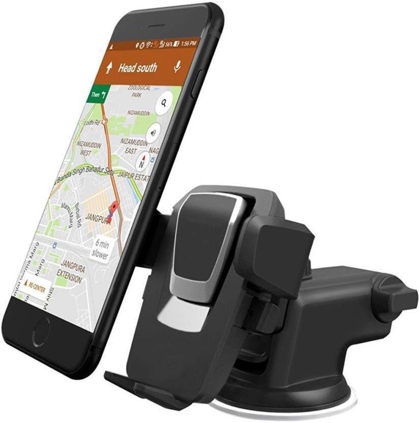 Rodex Car Mobile Holder Single Clamp for Dashboard Windshield   Black