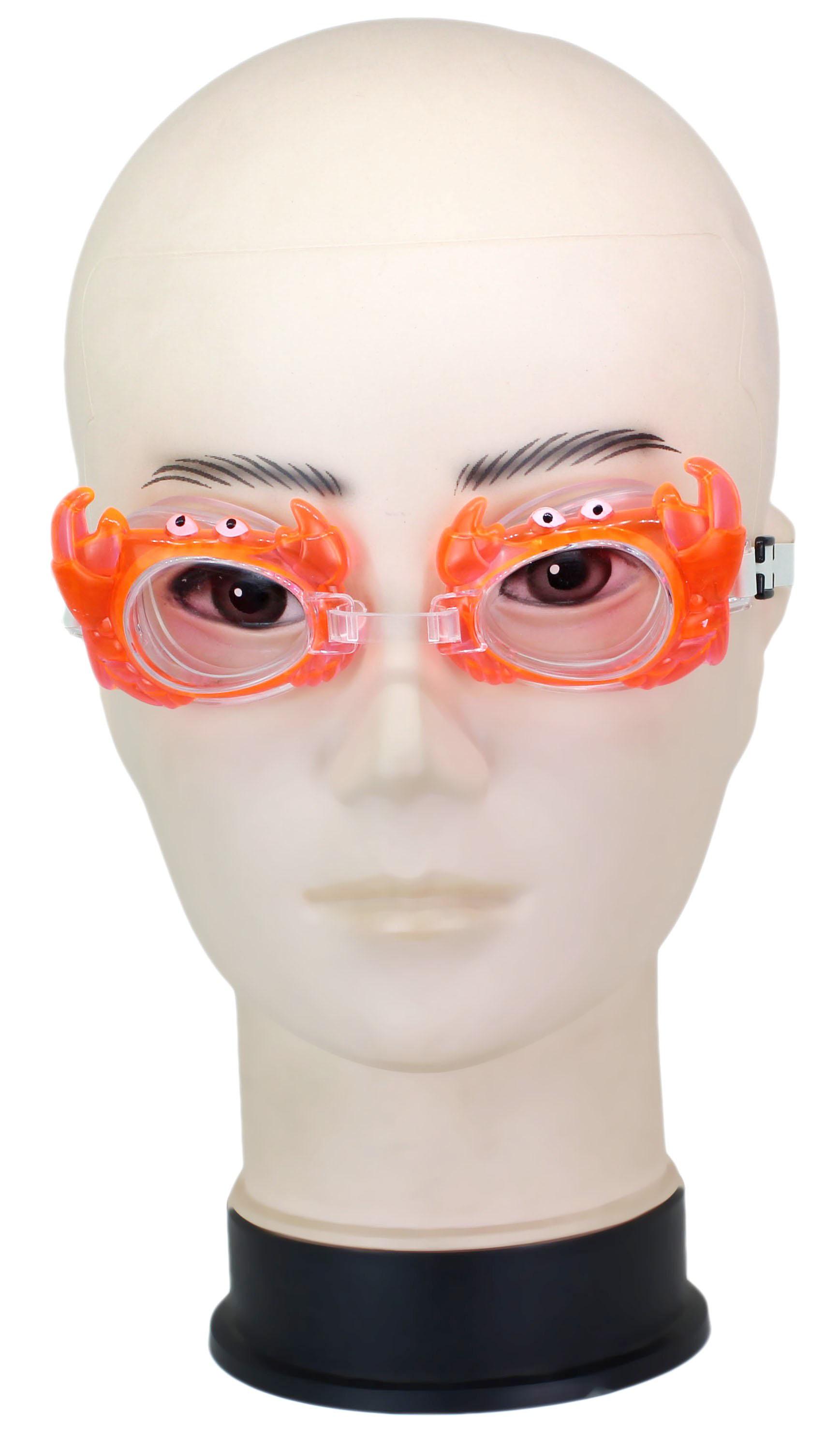 Neska Moda Kids AntiFog UV Protected Orange Swimming Kit