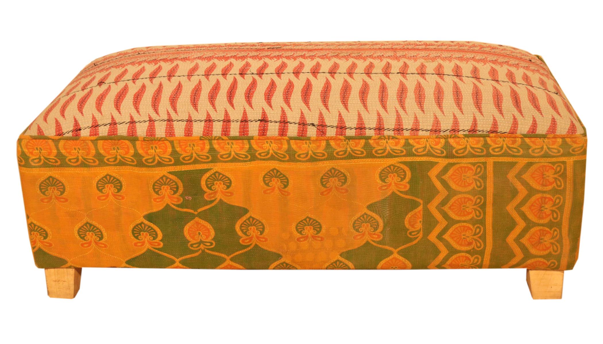 Ganesh Handicrafts Multicolor Wooden   Fabric 2 Seater Sofa