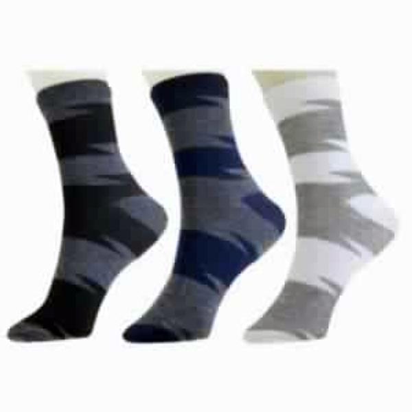 6 Pair Men Cotton Striped Ankle Length Socks