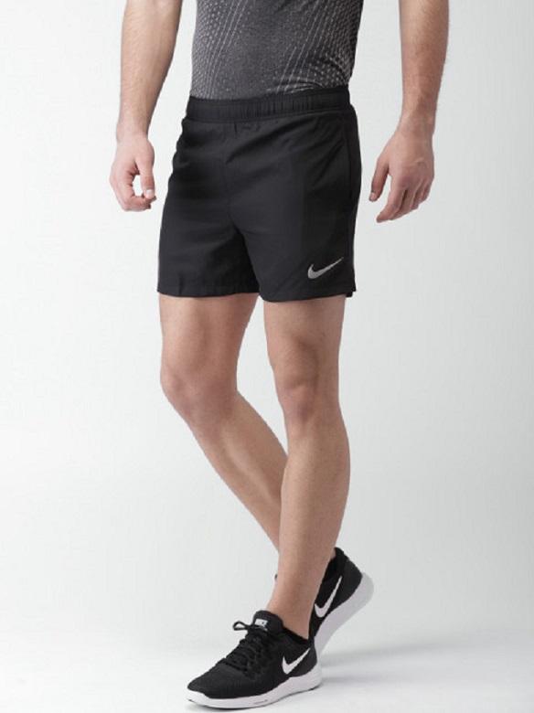 Nike Black Lycra Running Shorts For Men