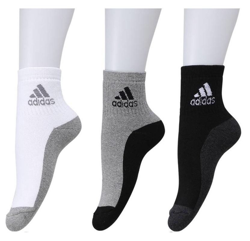 Adidas Multicolour Cotton Ankle Length Socks   3 Pairs