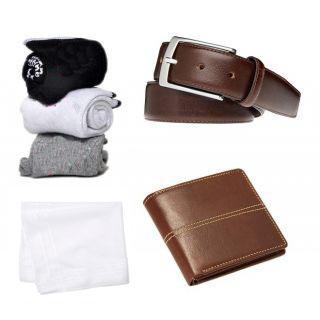 angel homes combo 3 pair socks, 1 belt, 1 purse, 1 white hanky  A001