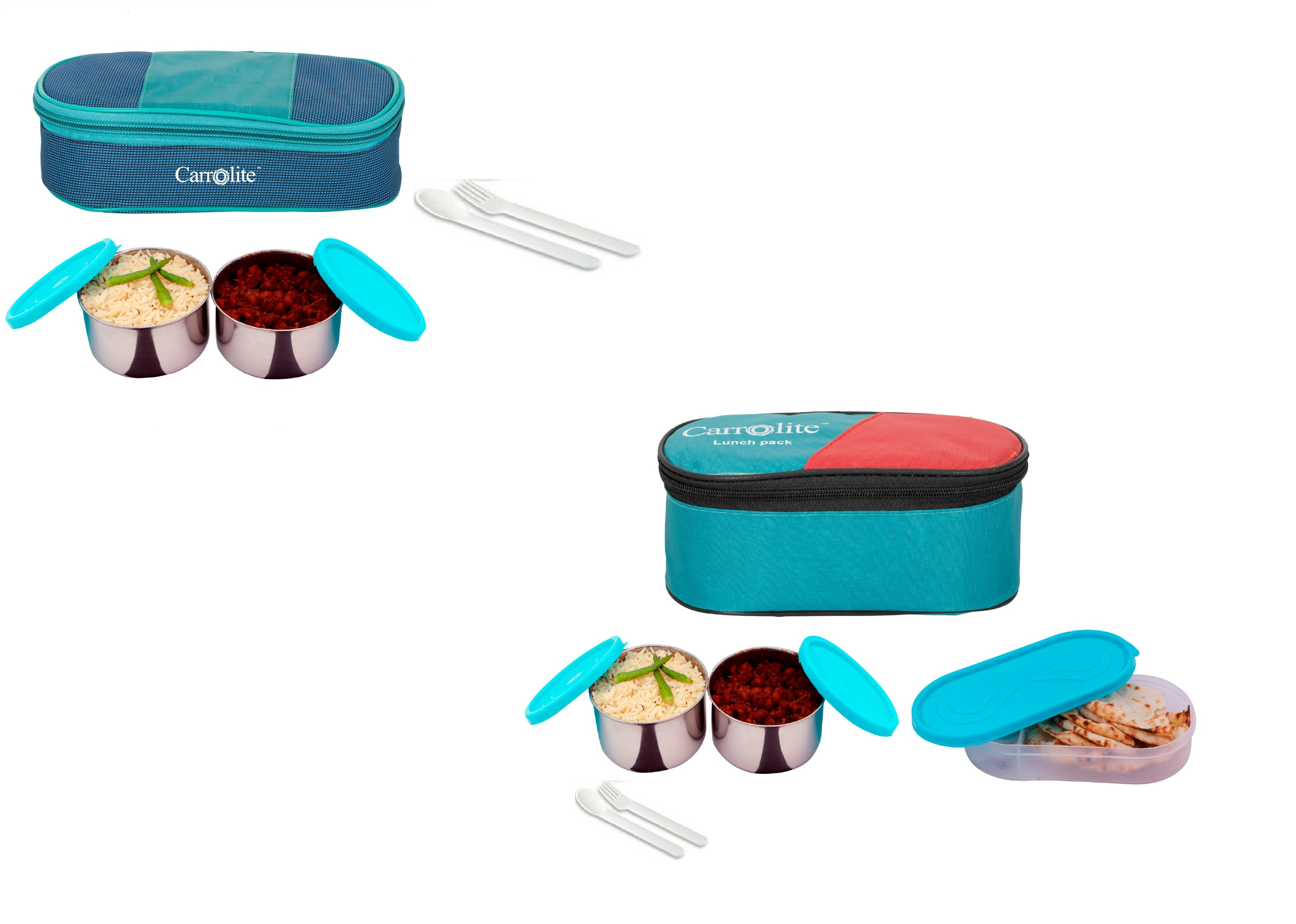 Syan Trendy 3 container + 1 Chapati Tray Lunchbox 750 ML Set of 2