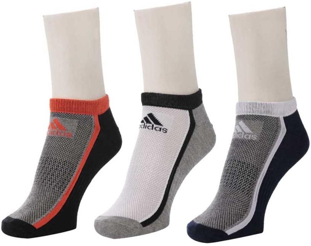 Adidas Unisex Coloured Low Cut Socks   Pack Of 3